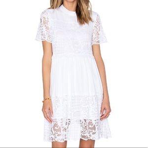 Kendall + Kylie • Lace High Neck BabyDoll Dress